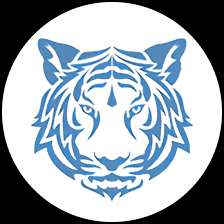 The above image shows the Target Range mascot, a blue tiger.