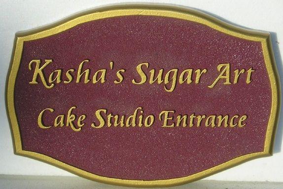 """SA28460 - Sign for """"Sugar Art"""" Cake Studio Entrance"""
