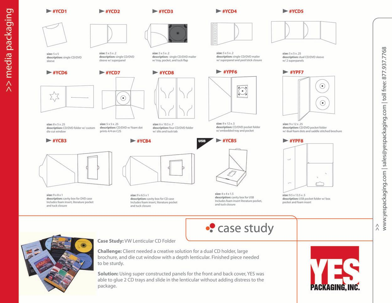 Media Packaging Catalog Page