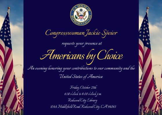 Jilma Meneses Honored by Congresswoman Jackie Speier