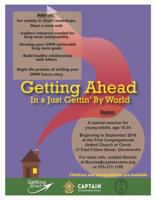 Getting Ahead Fall 2018 Program in Gloversville