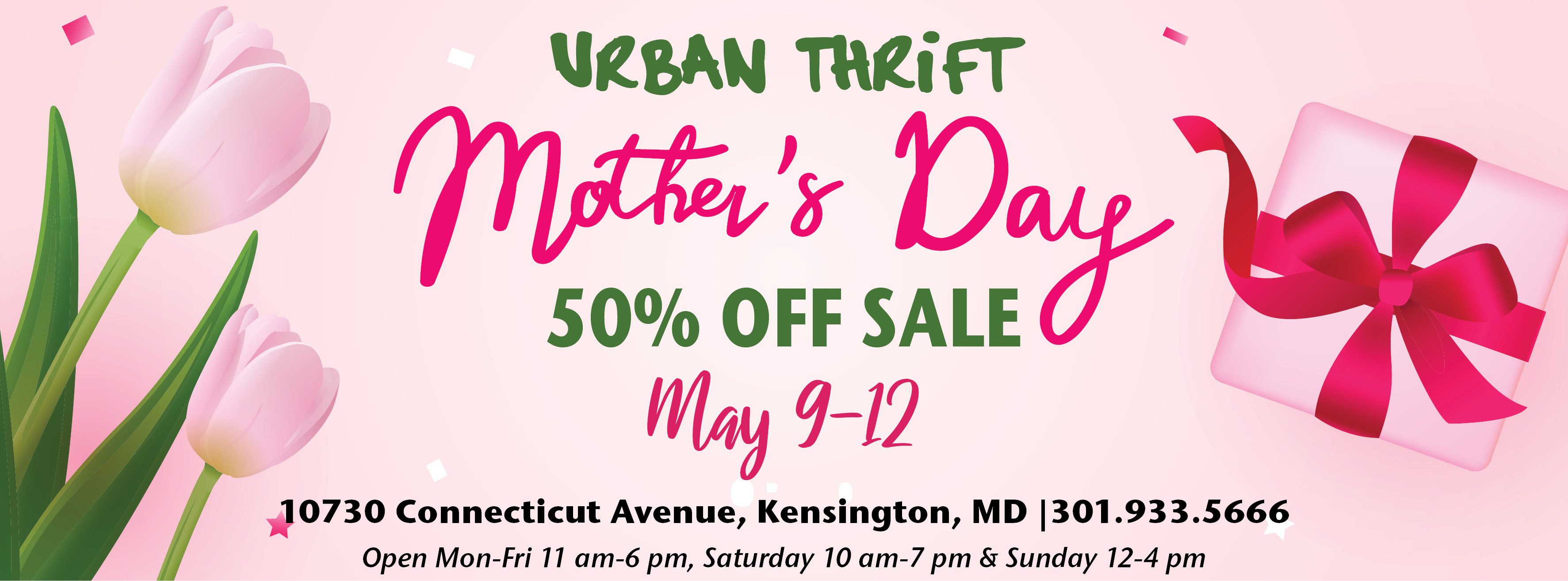 Urban Thrift – Mother's Day Sale