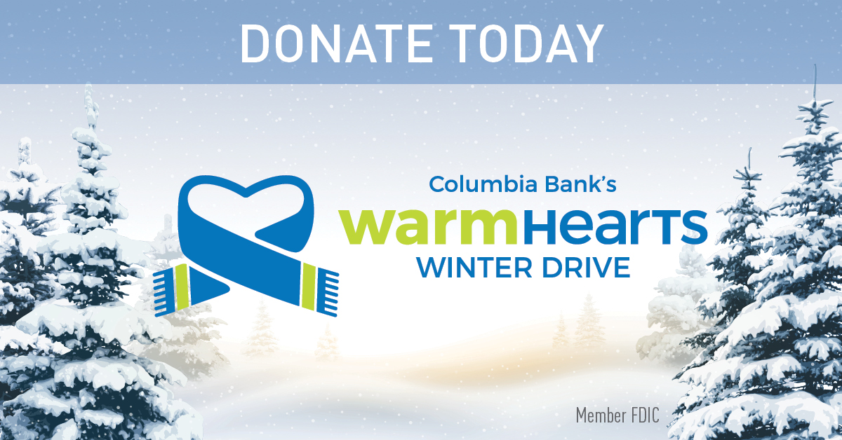 Columbia Bank's Share the Warmth Drive