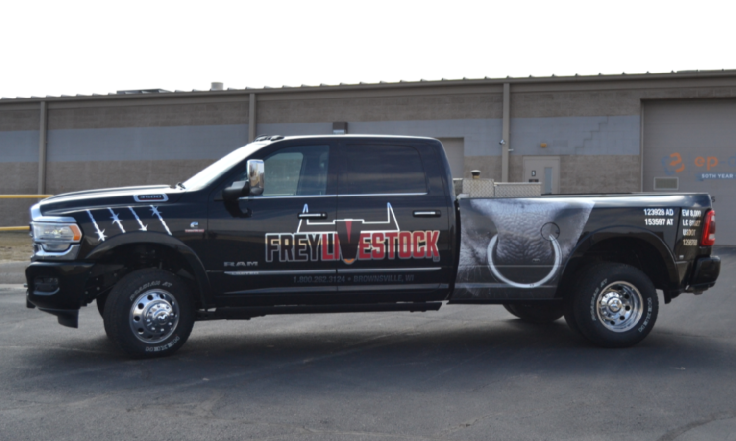Frey Livestock vehicle wraps