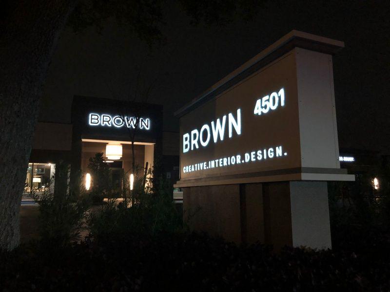 Illuminated Building Sign & Monument Sign