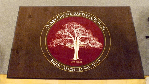 Oakey Grove Baptist Church Custom Rug