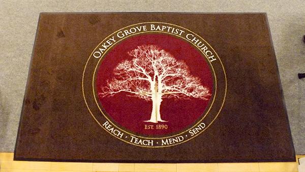 Oakey Grove Baptist Church Custom Rug