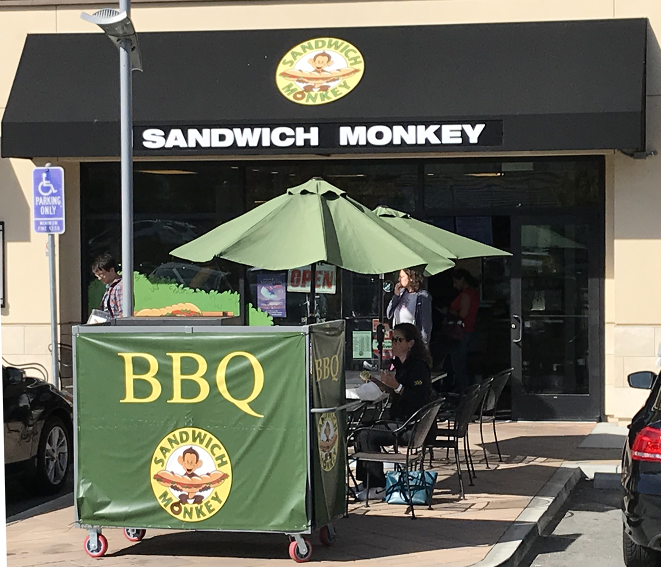Awning with light box push thru letters