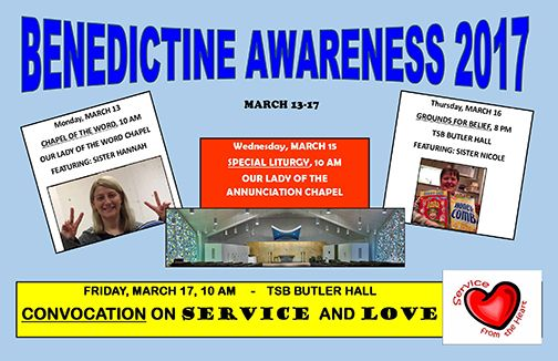 Benedictine Awareness at University of Mary - March 13-17