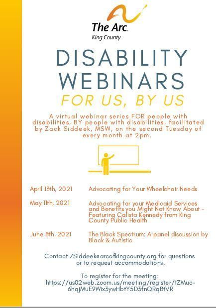 Disability Webinar For Us, By Us: The Black Spectrum