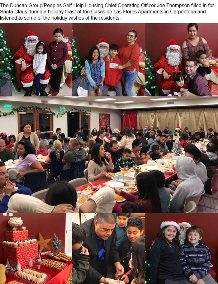 Holiday Recap: Santa Visits Casas de Las Flores