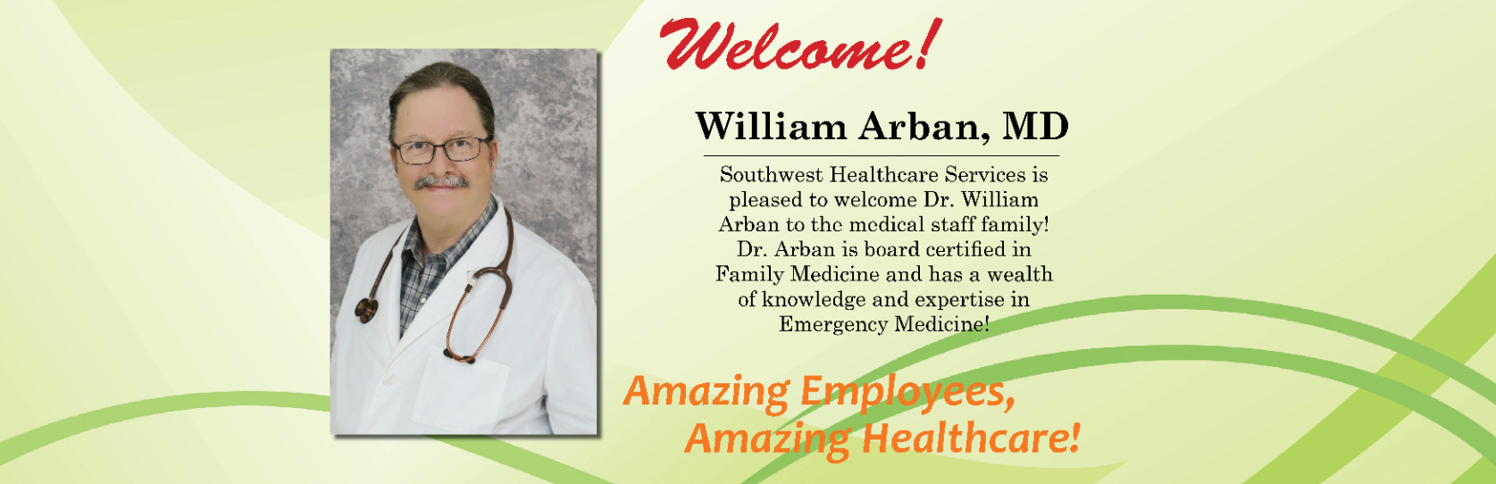 Dr. Arban welcome