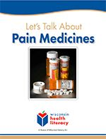 Let's Talk About Pain Medicines workbook