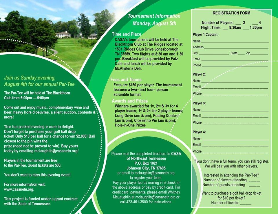 CASA of Northeast TN Golf Tournament