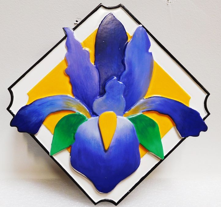 YP-1205 - Carved 2.5-D HDU Custom  Orchid Flower Plaque