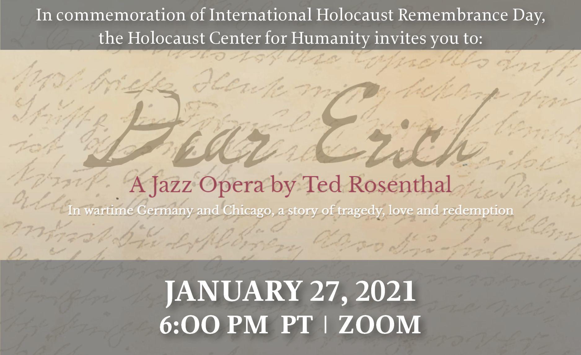 International Holocaust Memorial Day Event