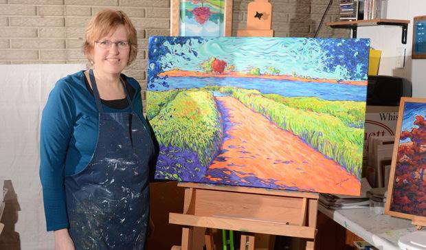 Tammy Schuett, prairie painter