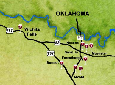 Map Of Texas Wineries.Nocona Wineries