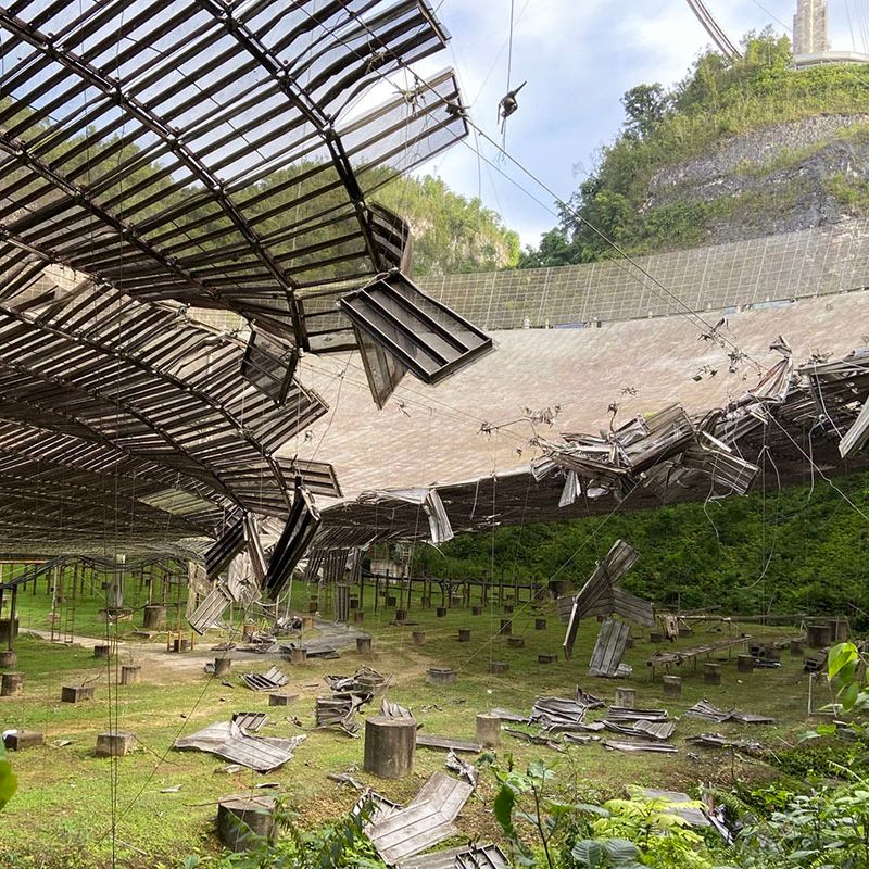 Arecibo Observatory Damaged after Cable Snaps
