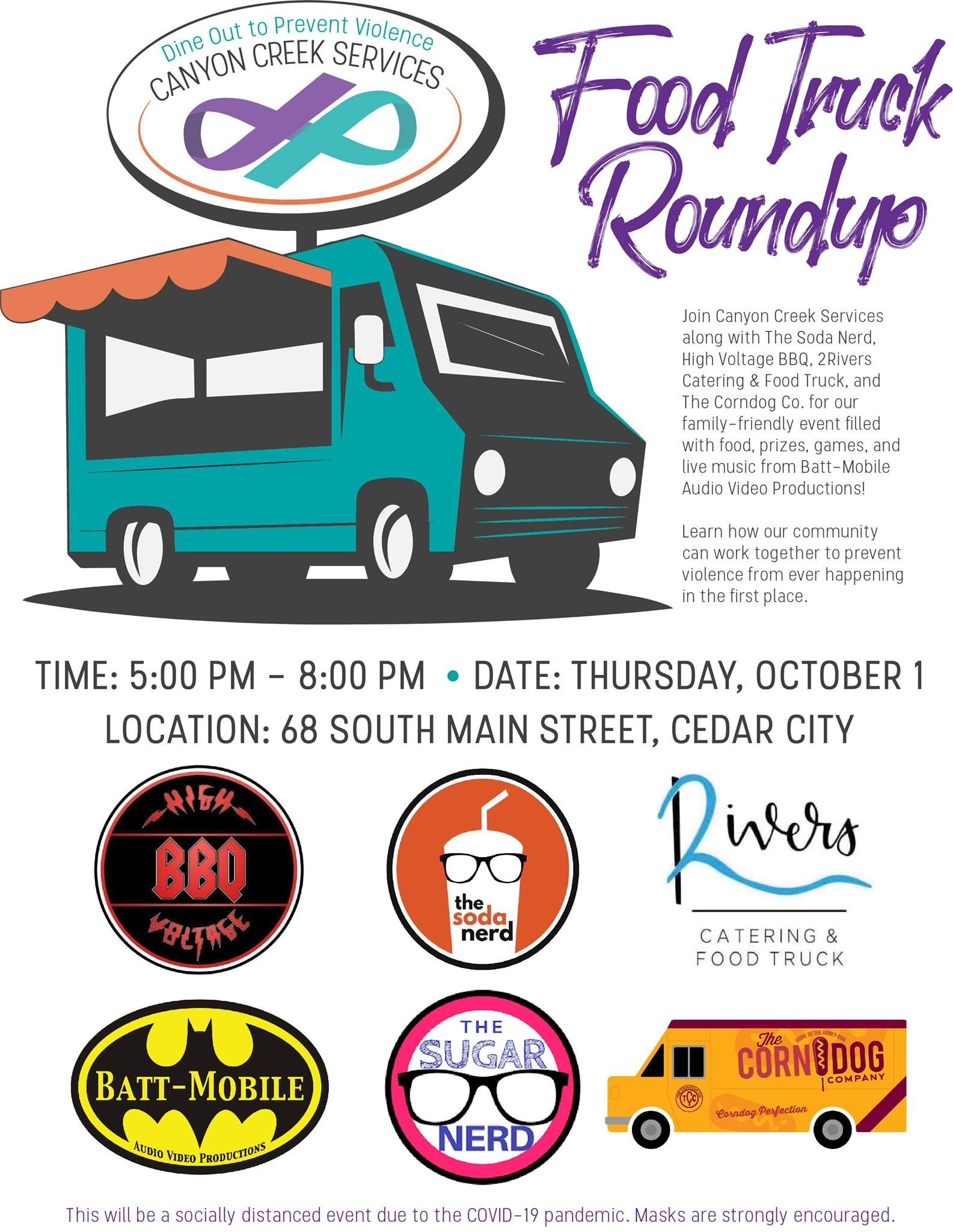 Dine Out to Prevent Violence Food Truck Roundup | Cedar City