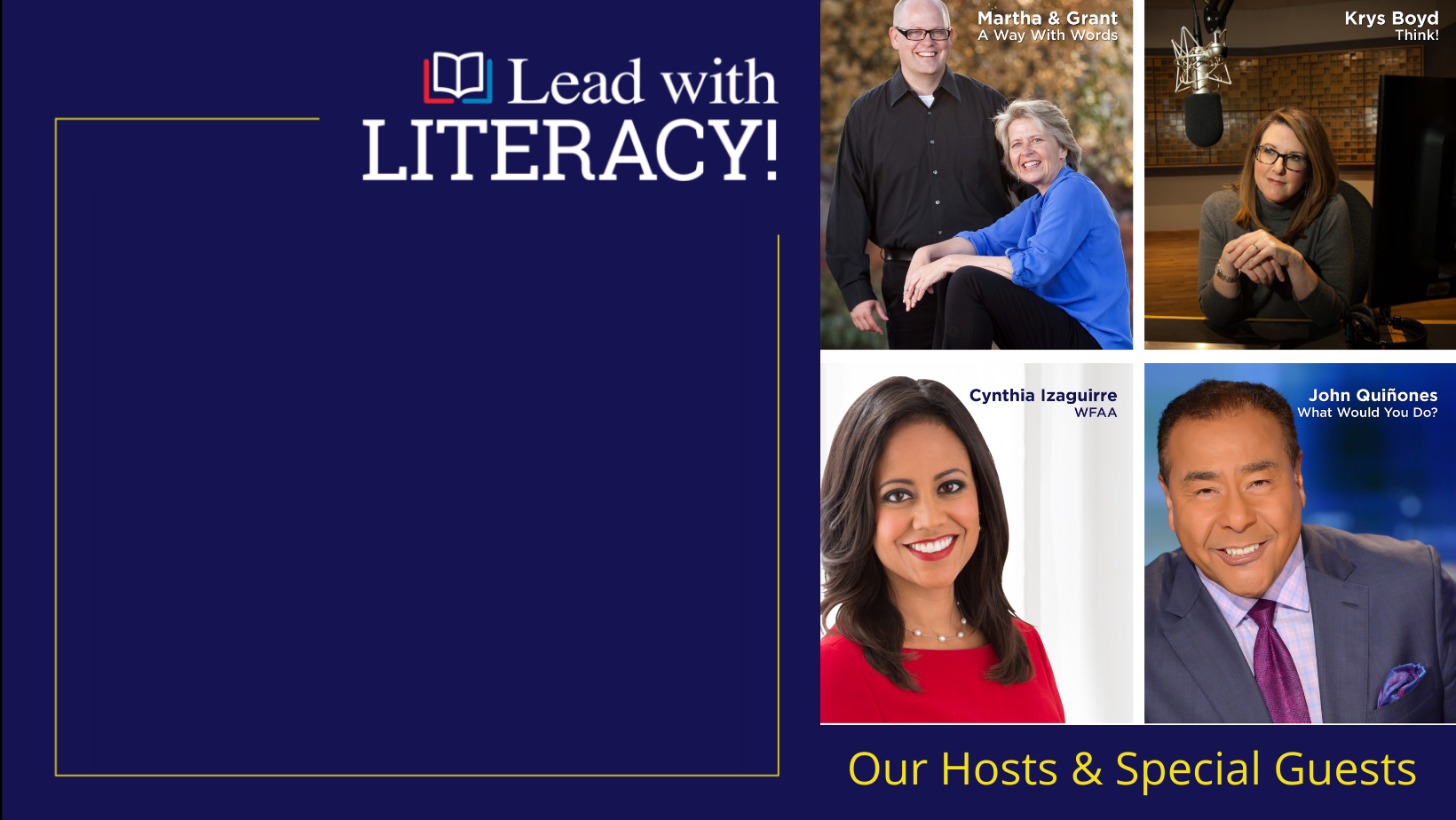 April 22 @ 7PM: Lead With Literacy