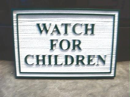 H17214 - Watch for Children Sandblasted HDU Sign