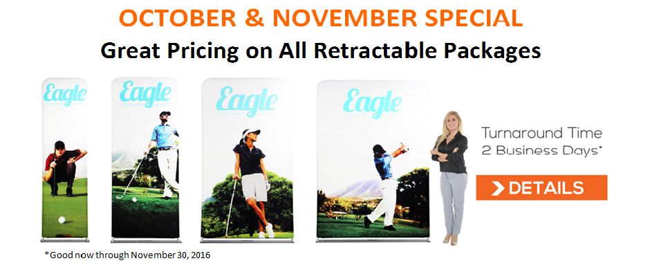 Retractable Banner Stand Special October 2016