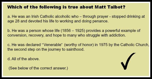 Matt Talbot's Road to Sainthood