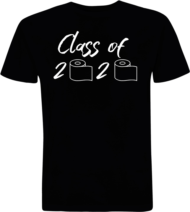 Grad 2020 T-Shirt - Class of 2020 (With Toilet paper rolls)
