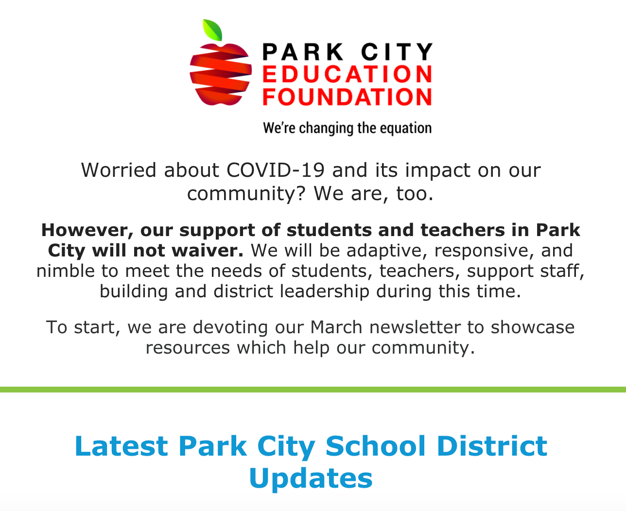 PCEF Newsletter March 2020