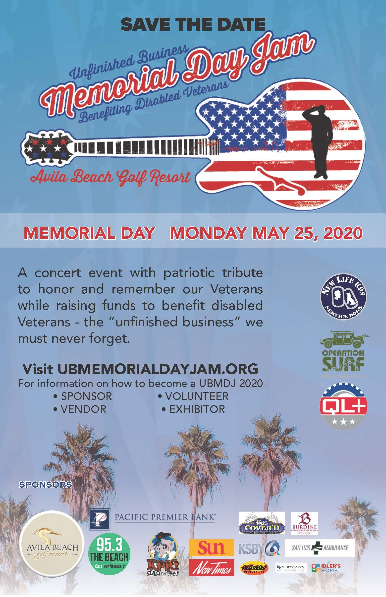 Unfinished Business Memorial Day Jam