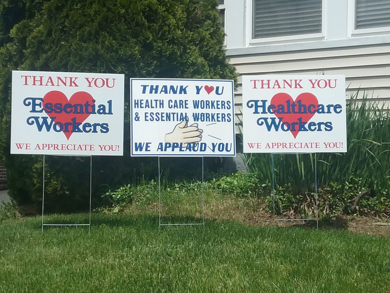 Thank you Health Care & Essential Workers signs available