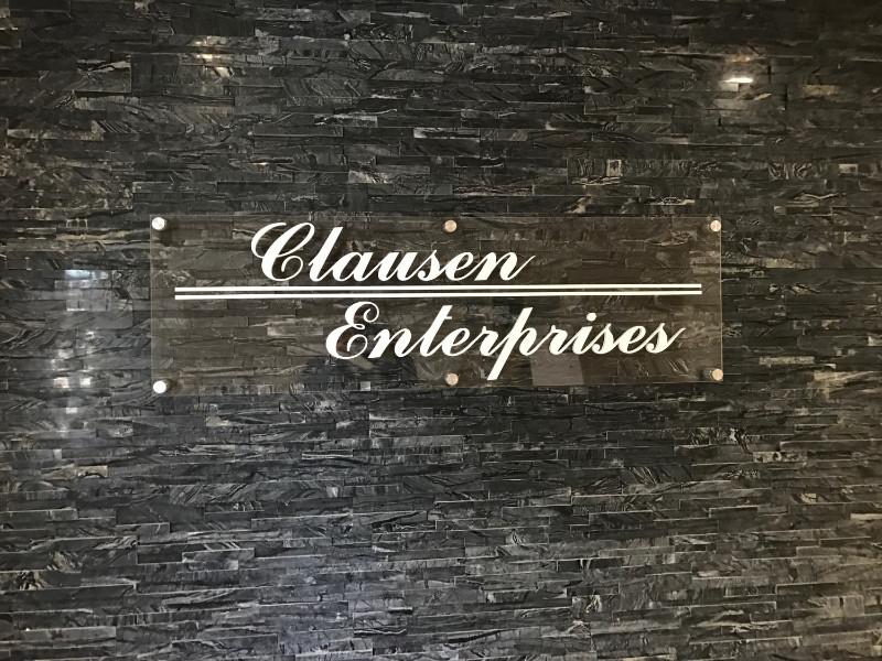 Plexiglass Lobby Sign