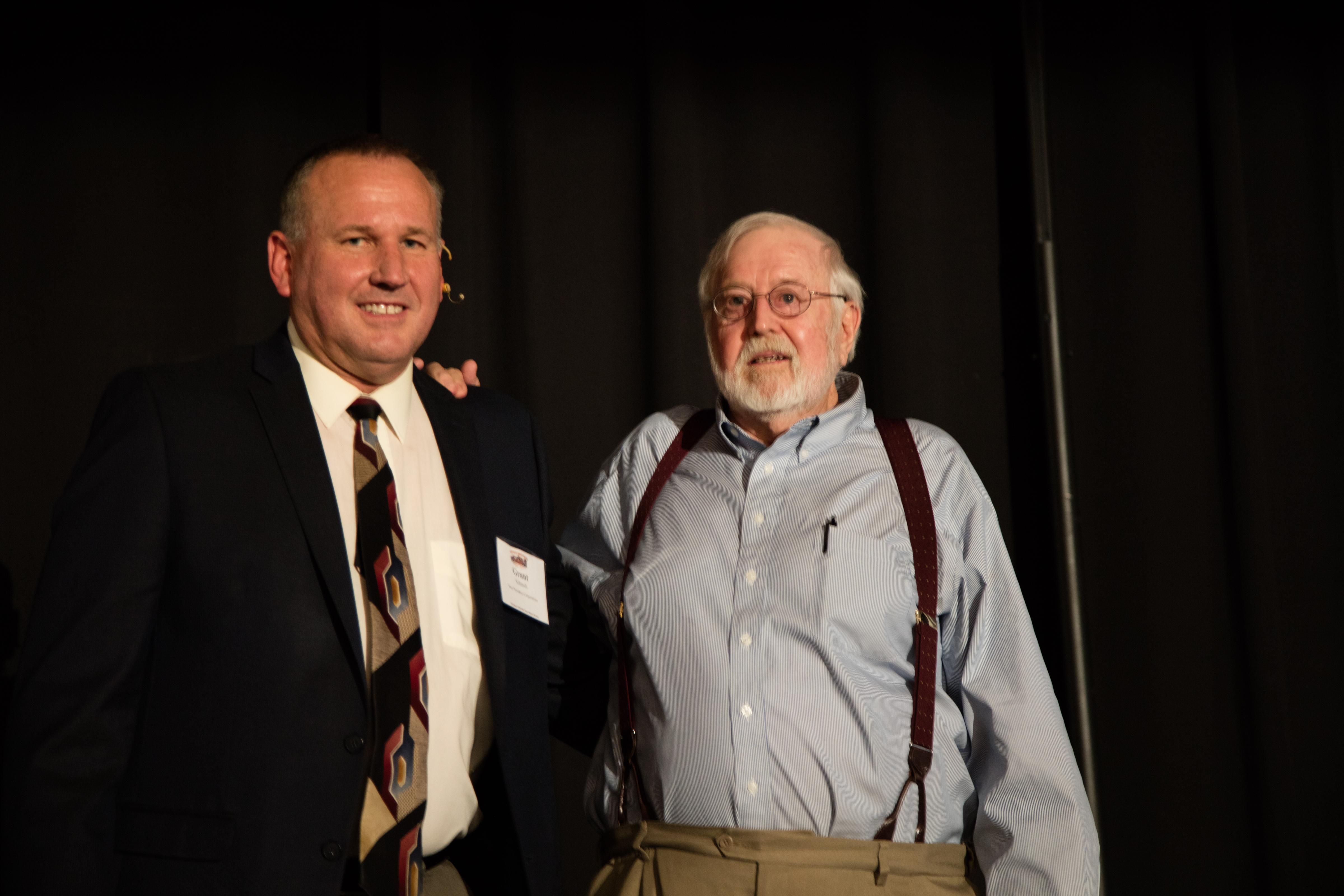 Grant Schmidt, OGT's VP and Pastor Ray Wilke, OGT's President