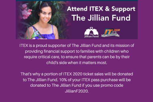 Support The Jillian Fund While Attending ITEX 2020