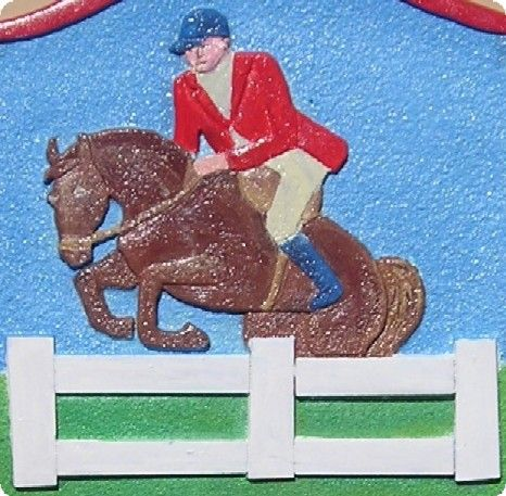 P25712 - Show Jumping Carved Equestrian and Mount