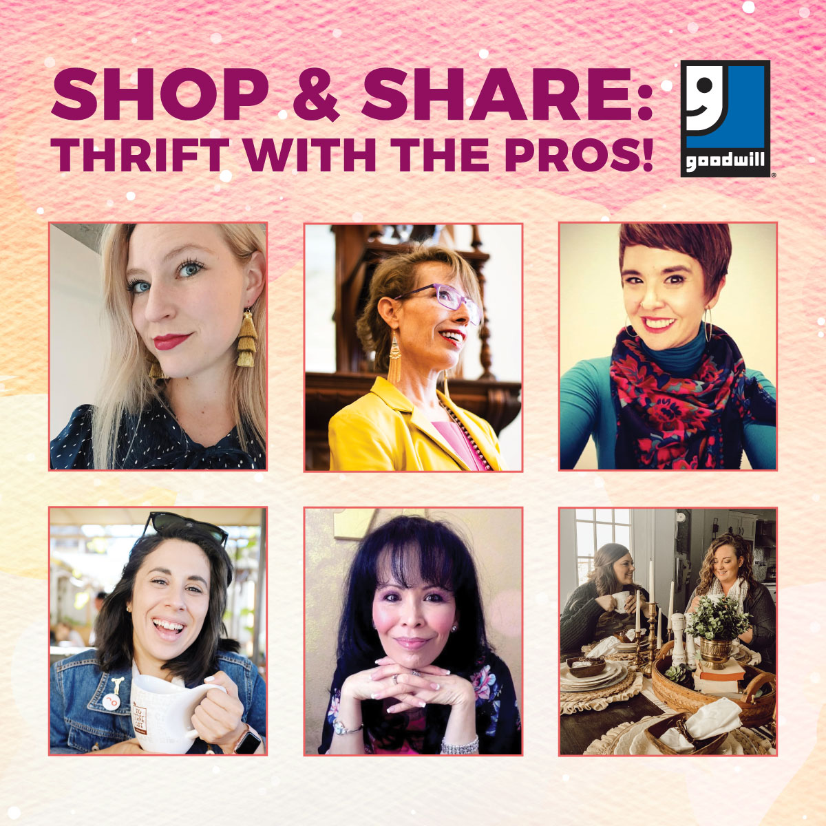 Shop & Share is back! Thrift with the PROS!