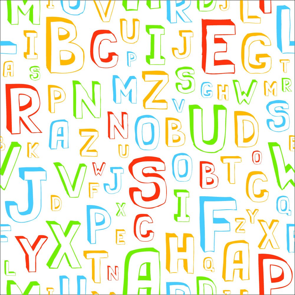 Colorful Letters Wallpaper