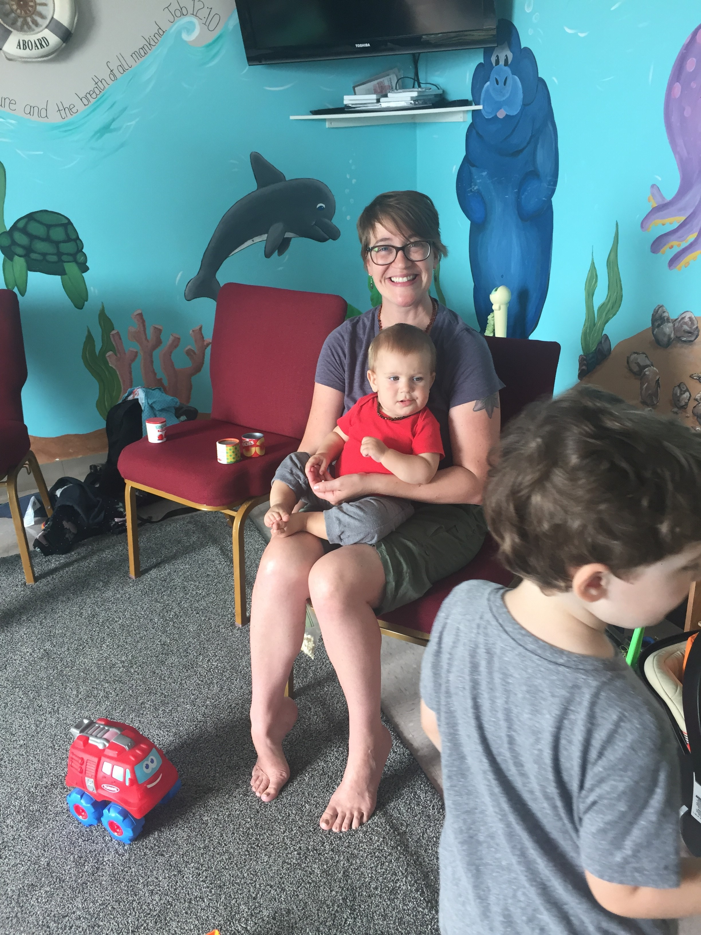 All smiles at the Breastfeeding Cafe in Oswego