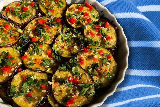 Shoshana Feferman's Crazy  Good Marinated Eggplant