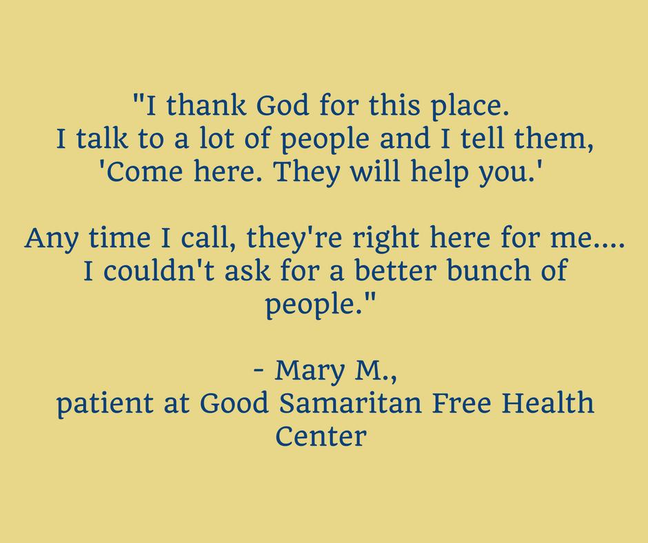 Mary - Good Samaritan Free Health Center