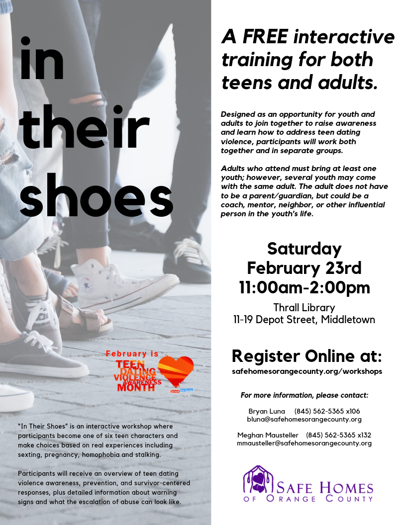 """""""In Their Shoes"""" Workshop for Teens"""
