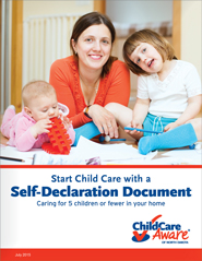 Start Child Care with a Self-Declaration Document