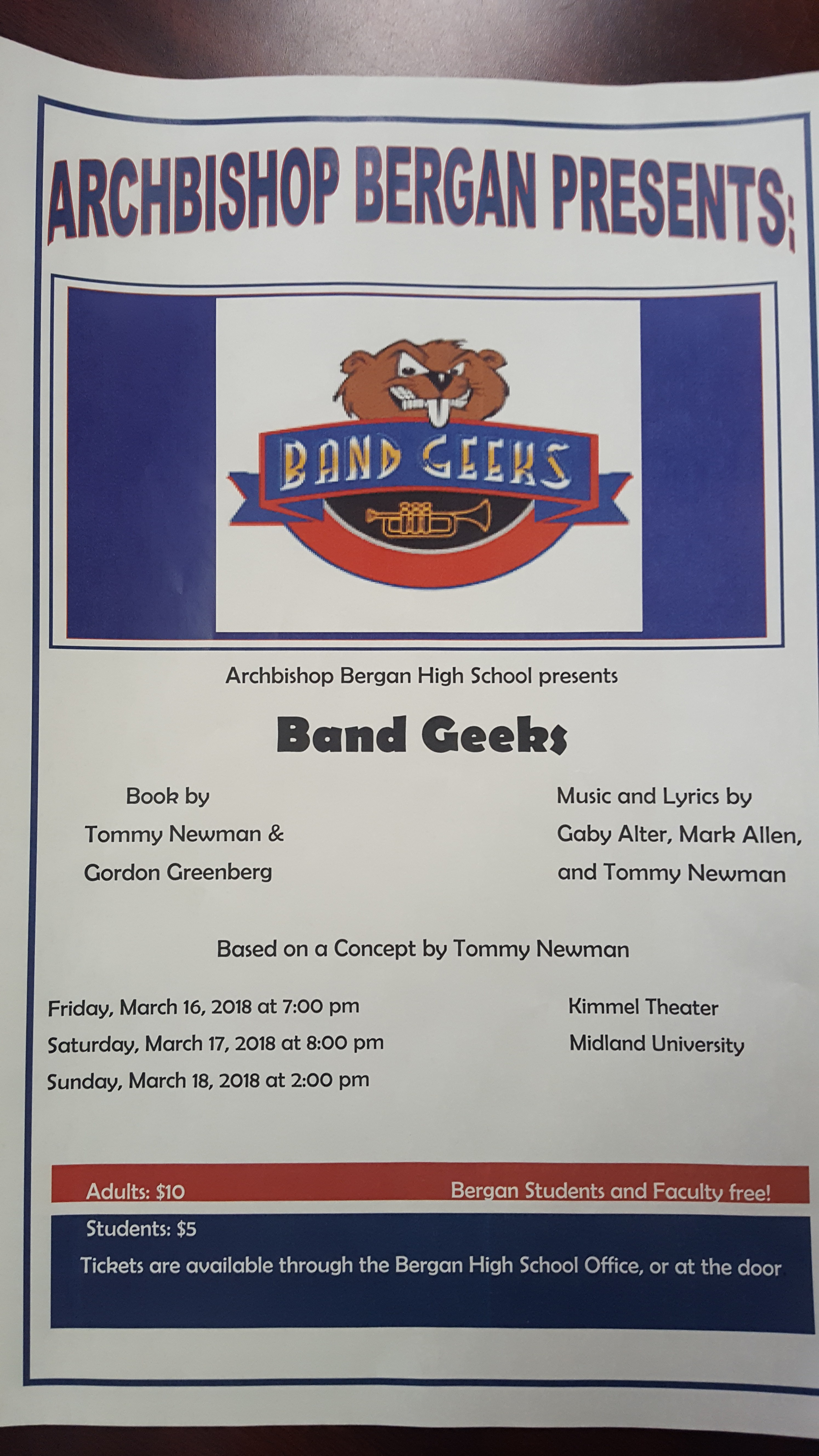 Bergan Presents the Musical, Band Geeks