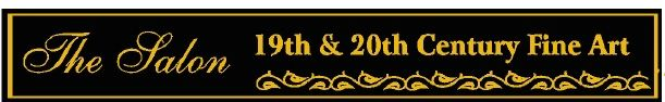 """F15960 - Decorative, Carved HDU Sign """"The Salon 19th and 20th Century Fine Art"""""""