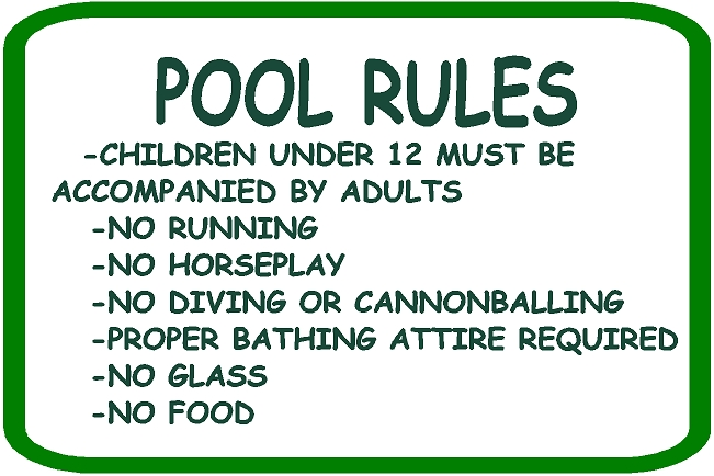GB16380 - Carved  HDU Swimming Pool Rules Sign