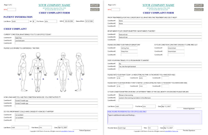 medical forms 2