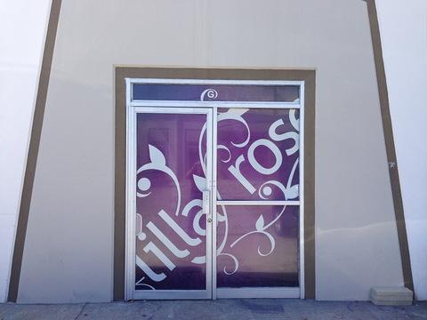 See-through vinyl window graphics Orange County