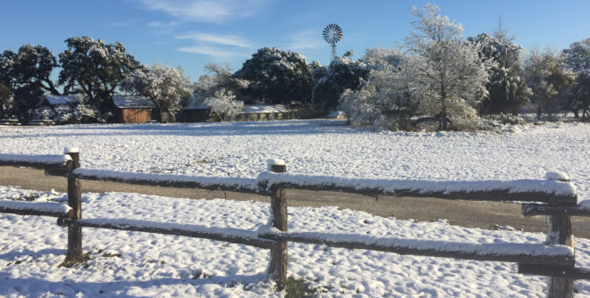 Herff Farm Snow December 2017