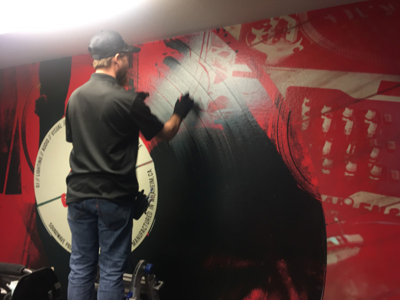 Wall Graphics Installation